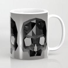 Black skull low poly Mug