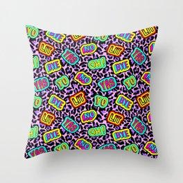 Sticker neonpard Throw Pillow