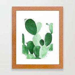 Green Paddle Cactus II Framed Art Print