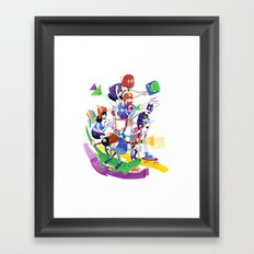All Together Now! Framed Art Print