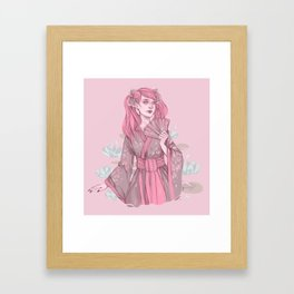 Floral Ghouls - Draculaura Framed Art Print