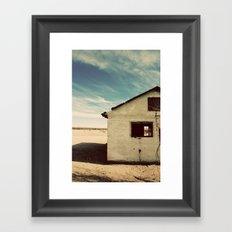 Desert House - Color Framed Art Print
