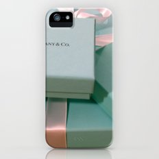 Pile of Boxes Tiffany Blue Style iPhone (5, 5s) Slim Case