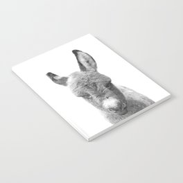 Black and White Baby Donkey Notebook
