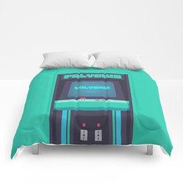 Polybius Arcade Game Machine Cabinet - Front Green Comforters