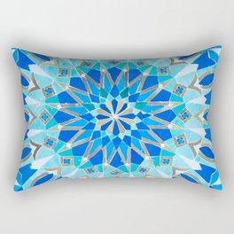 Moroccan Tile - Zellige II Cobalt Rectangular Pillow