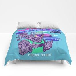 Werewolf Beach Frisbee Comforters