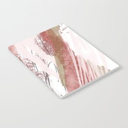 Sugar and Spice: a minimal, abstract mixed-media piece in pink and brown by Alyssa Hamilton Art Notebook