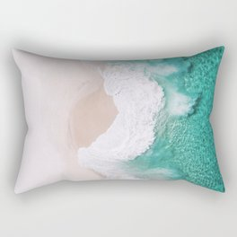 Waves spread out on the coast Rectangular Pillow