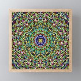 Happy Spiritual Garden Mandala Framed Mini Art Print