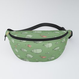 Aquarium Lullaby Fishes in Green and Pink Fanny Pack