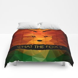 What the fox ? - color Comforters