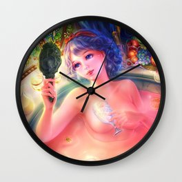 Midnight Snow White-Bath Night Wall Clock