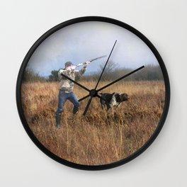 Out for a shot Wall Clock