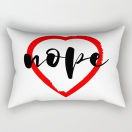Nope Anti Love Valentine's Day Rectangular Pillow