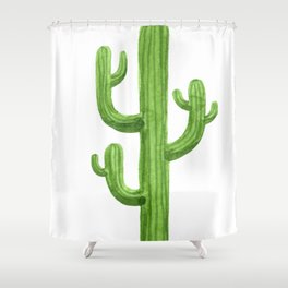 Cactus One Shower Curtain
