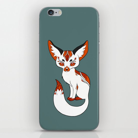 Mysterious Fox iPhone & iPod Skin