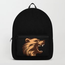 Angry Grizzly Bear Backpack