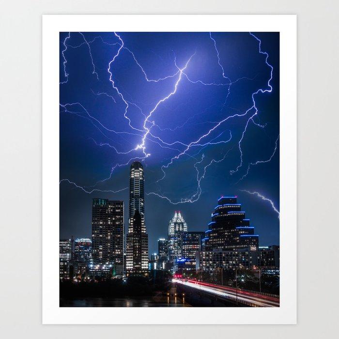 Austin thunderstorm 2 Art Print