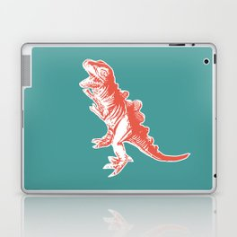 Dino Pop Art - T-Rex - Teal & Dark Orange Laptop & iPad Skin