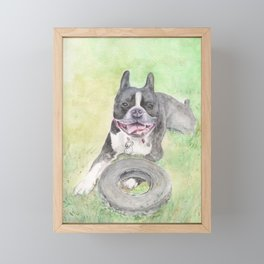Elvis and His Tire Framed Mini Art Print
