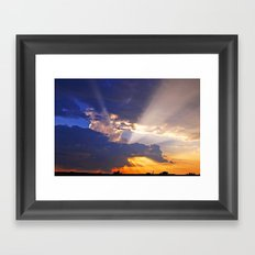 Heavenly Sunset Framed Art Print