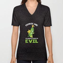Vegetarian Vegan Pickles Lover Gift Unisex V-Neck