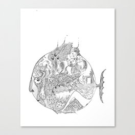 sad fish Canvas Print