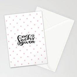 no fucks given Stationery Cards