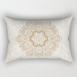 Mandala Temptation in Cream Rectangular Pillow