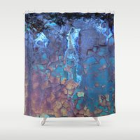 austin Shower Curtains featuring Waterfall  by Lena Weiss