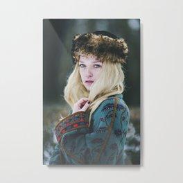 Russian girl Metal Print