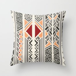 Tribal ethnic geometric pattern 034 Throw Pillow