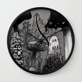 Dark Mushrooms  Wall Clock