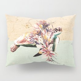 Turtle and bouquet Pillow Sham