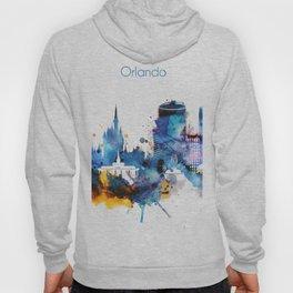 Watercolor Orlando skyline design Hoody