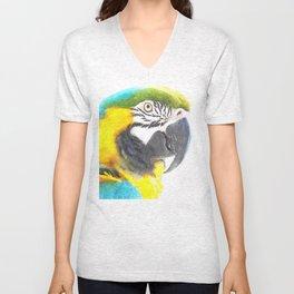 Macaw portrait Unisex V-Neck