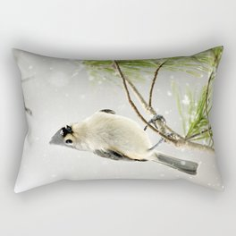 Snowy Songbird Rectangular Pillow