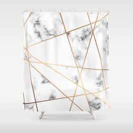 Marble Geometry 054 Shower Curtain