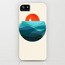 Deep blue ocean iPhone Case
