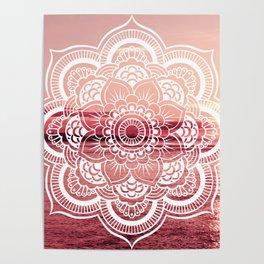 Mandala Water : Living Coral /Rose Pink Poster
