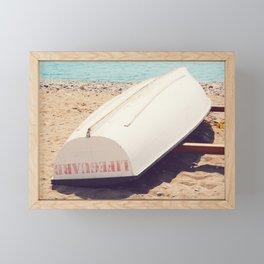 AFE Lifeguard Boat Framed Mini Art Print