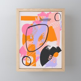 ABSTRACT IN PINKS Framed Mini Art Print