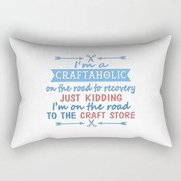 I'm a CRAFTAHOLIC Rectangular Pillow