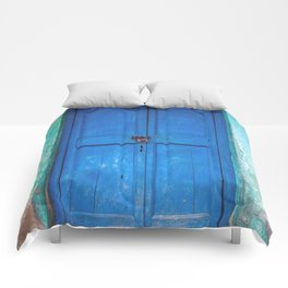 Blue Indian Door Comforters