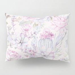 Pink succulents pattern Pillow Sham