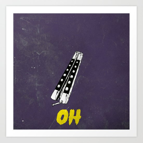 OH NO YOU DIDN'T 1 of 4 Art Print