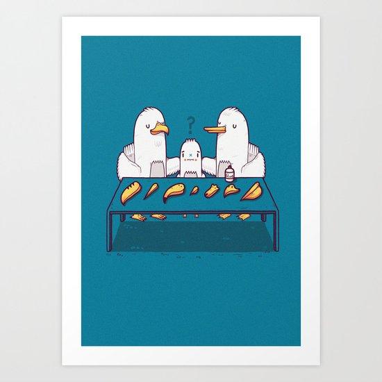 Chose your beak Art Print