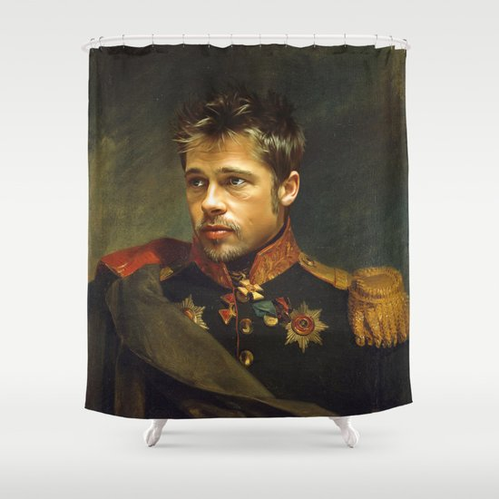 Brad Pitt - replaceface Shower Curtain