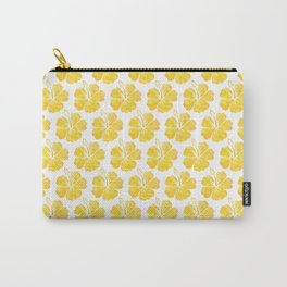 Yellow Hawaiian Hibiscus Flowers Carry-All Pouch